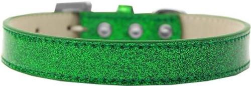 Tulsa Plain Ice Cream Dog Collar Emerald Green Size 18
