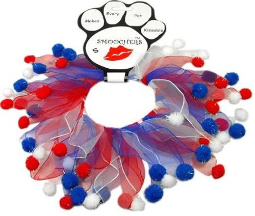 Red, White And Blue Fuzzy Smoochers Medium Rwb