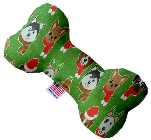 Christmas Dogs 8 Inch Bone Dog Toy