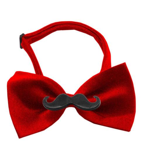 Black Moustache Red Bow Tie