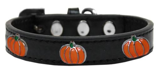 Pumpkin Widget Dog Collar Black Size 12