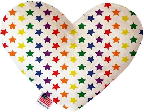 Rainbow Stars 6 Inch Heart Dog Toy