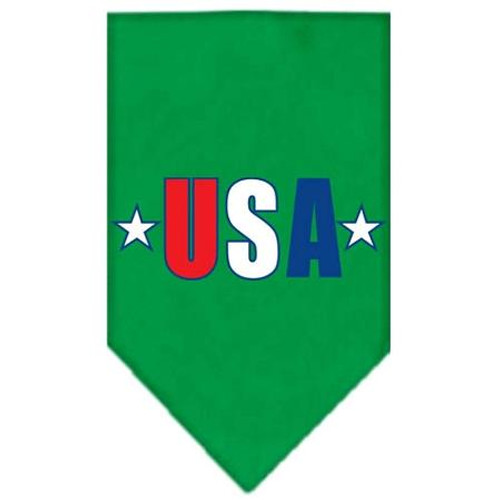 Usa Star Screen Print Bandana Emerald Green Small