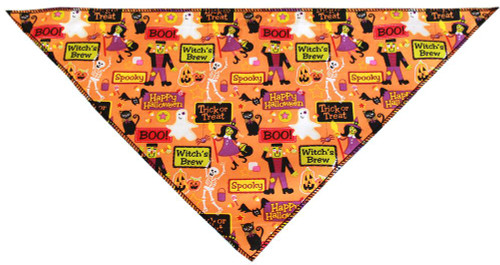 Witches Delight Tie-on Pet Bandana Size Large