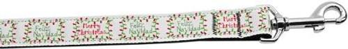 Feliz Navidad Nylon Dog Leashes 6 Foot Leash