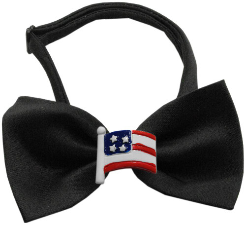 American Flag Chipper Black Bow Tie