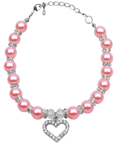 Heart And Pearl Necklace Rose Sm (6-8)
