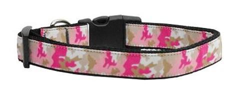 Pink Camo Nylon Collar Medium