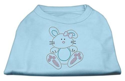 Bunny Rhinestone Dog Shirt Baby Blue Xl (16)