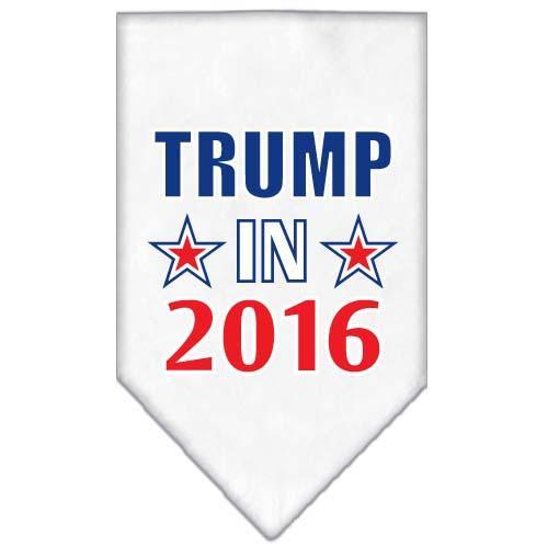 Trump In 2016 Election Screenprint Bandanas White Large