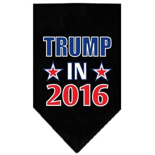 Trump In 2016 Election Screenprint Bandanas Black Large