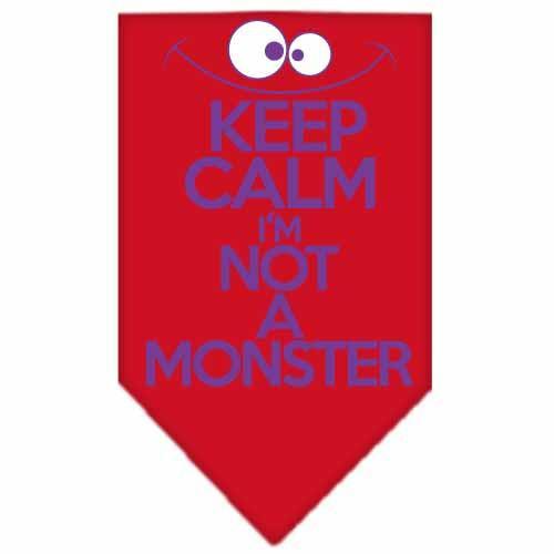 Keep Calm Screen Print Bandana Red Large
