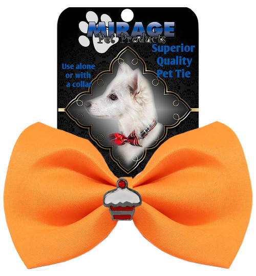 Cupcake Widget Pet Bowtie Orange