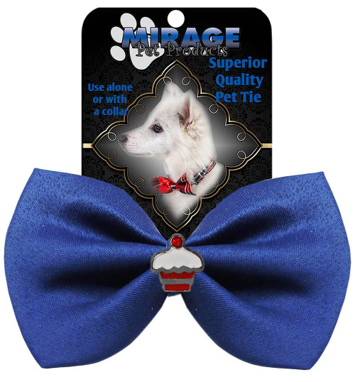Cupcake Widget Pet Bowtie Blue