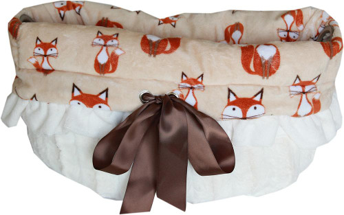 Foxy Reversible Snuggle Bugs Pet Bed, Bag, And Car Seat All-in-one
