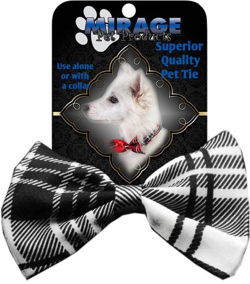Dog Bow Tie Plaid White