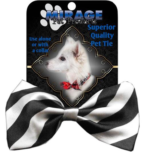 Dog Bow Tie Stripes White