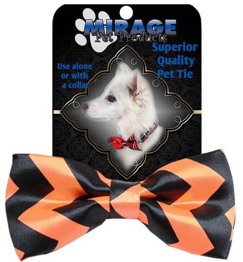 Chevron Orange Bow Tie