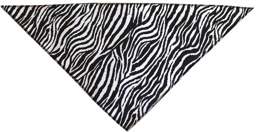 Zebra Print Tie-on Pet Bandana Size Large