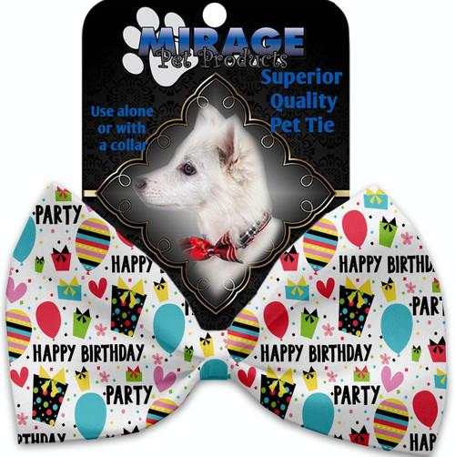 Happy Birthday Pet Bow Tie