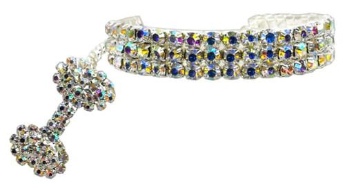Glamour Bits Pet Jewelry Clear L (10-12)