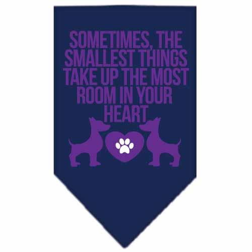 Smallest Things Screen Print Bandana Navy Blue Small