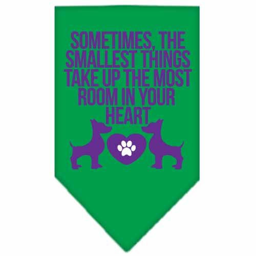 Smallest Things Screen Print Bandana Emerald Green Small