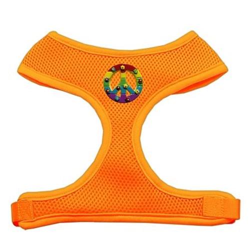 Rainbow Peace Sign Chipper Orange Harness Medium