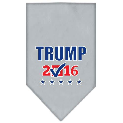 Trump Checkbox Election Screenprint Bandana Grey Small