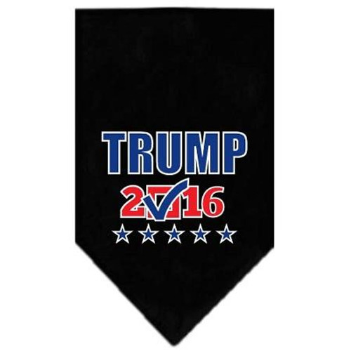 Trump Checkbox Election Screenprint Bandana Black Small