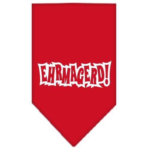 Ehrmagerd Screen Print Bandana Red Large
