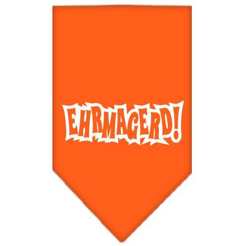Ehrmagerd Screen Print Bandana Orange Large