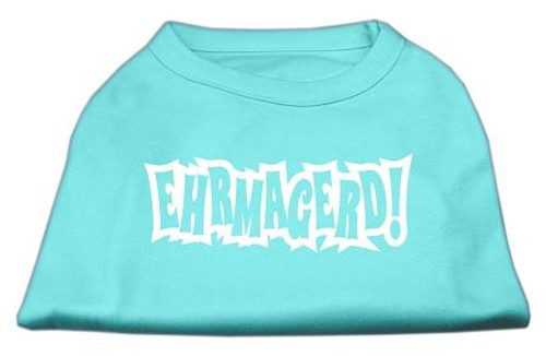 Ehrmagerd Screen Print Shirt Aqua Sm (10)