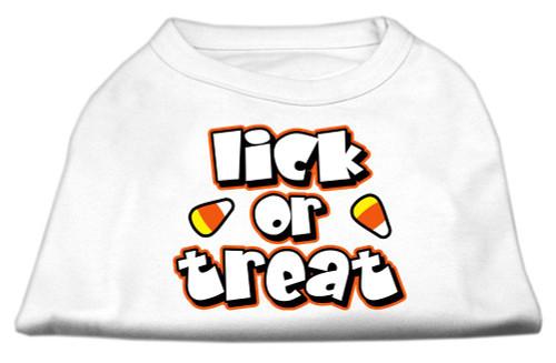 Lick Or Treat Screen Print Shirts White Xxxl(20) - 51-13-01 XXXLWT