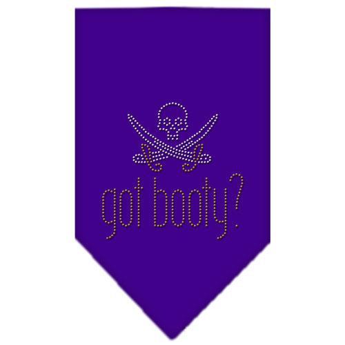 Got Booty Rhinestone Bandana Purple Large