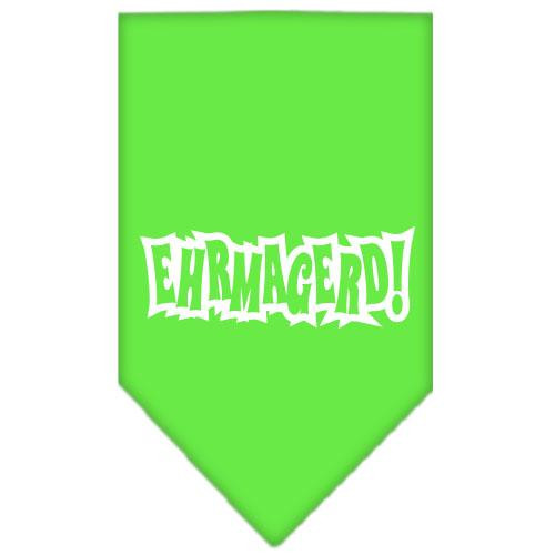 Ehrmagerd Screen Print Bandana Lime Green Large