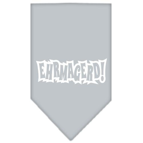 Ehrmagerd Screen Print Bandana Grey Large