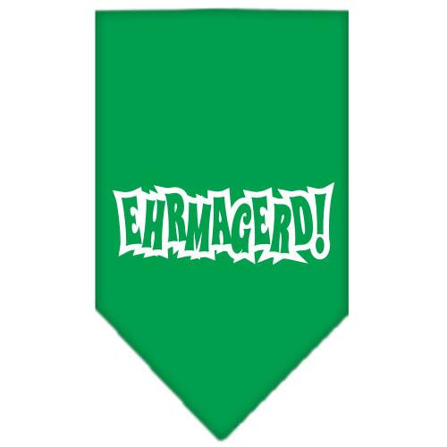 Ehrmagerd Screen Print Bandana Emerald Green Large