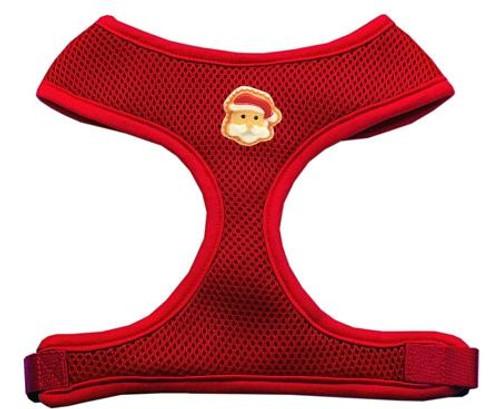 Santa Face Chipper Red Harness Medium