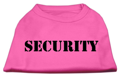 Security Screen Print Shirts Bright Pink 6x (26)