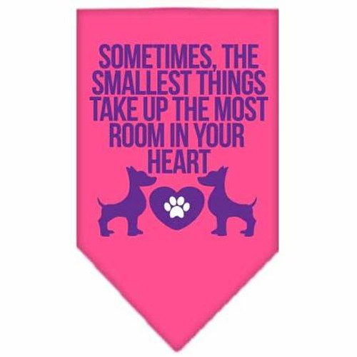 Smallest Things Screen Print Bandana Bright Pink Large