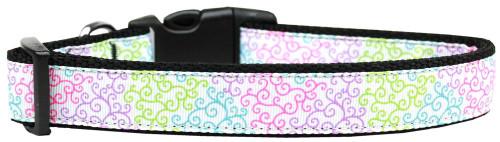 Summer Swirls Nylon Dog Collar Medium