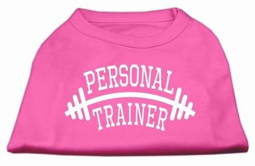 Personal Trainer Screen Print Shirt Bright Pink 5x (24)