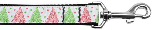 Fancy Schmancy Christmas Tree Nylon Dog Leash 4ft