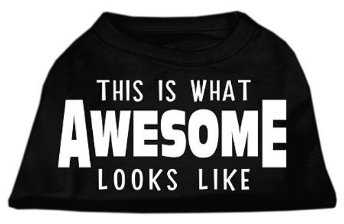 This Is What Awesome Looks Like Dog Shirt Black Xl (16)