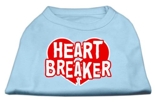 Heart Breaker Screen Print Shirt Baby Blue Lg (14) - 51-54 LGBBL