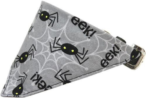 Spiders Bandana Pet Collar Black Size 10