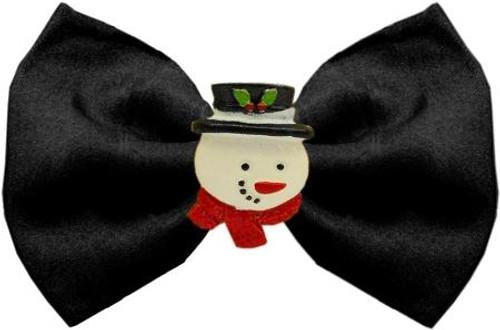 Frosty Chipper Black Pet Bow Tie