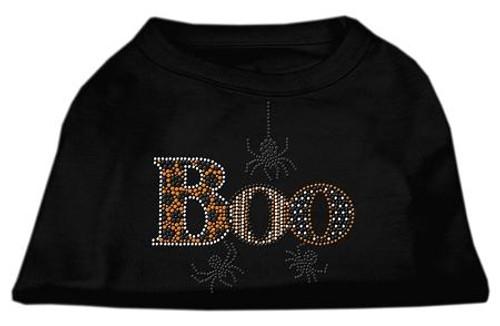 Boo Rhinestone Dog Shirt Black Xs (8)