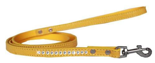 Clear Jewel Croc Leash Yellow 1/2'' Wide X 4' Long